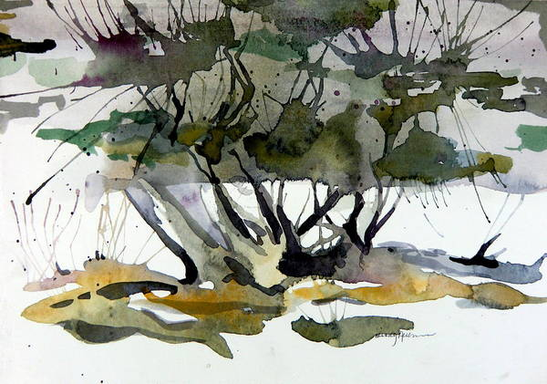 Tree Poster featuring the painting Twilight Tree by Mindy Newman