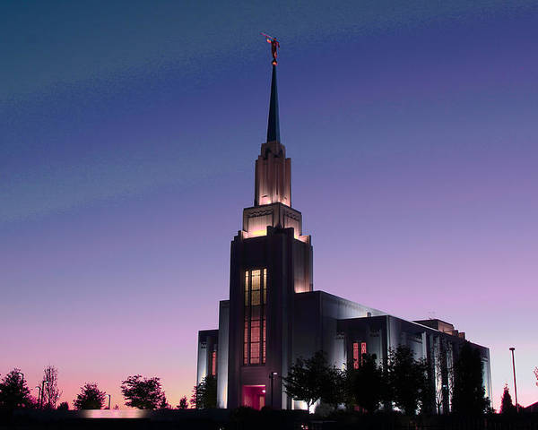 Lds Poster featuring the photograph Twin Falls Temple by Skye Fassett