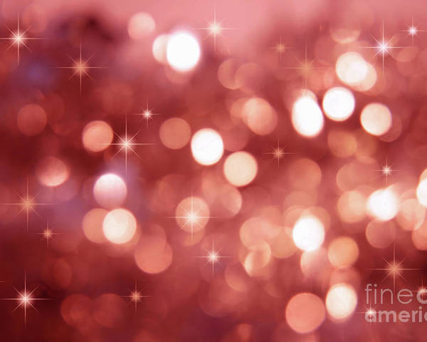 Abstract Poster featuring the photograph Twinkle Little Stars by Sandra Cunningham