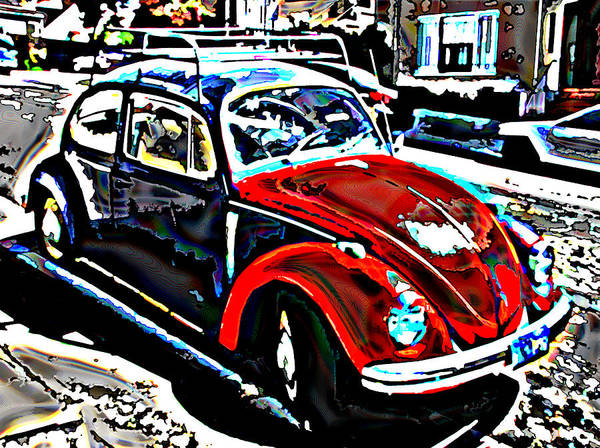 Two Tone Poster featuring the photograph Two Toned Vw Beetle by Samuel Sheats