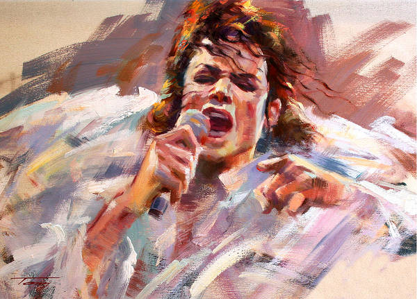 Mj Poster featuring the painting Unforgettable Sight by Tony Song