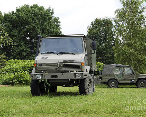 Belgium Poster featuring the photograph Unimog Truck Of The Belgian Army by Luc De Jaeger