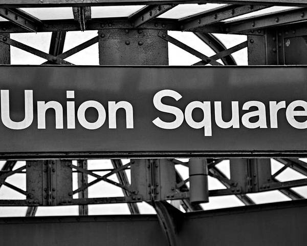Union Square Poster featuring the photograph Union Square by Susan Candelario