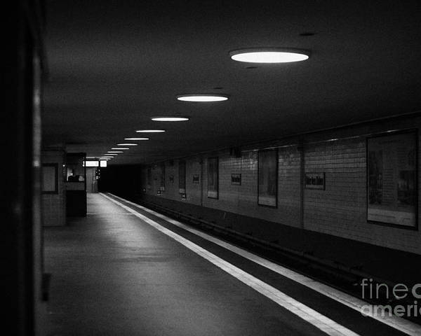 Berlin Poster featuring the photograph Unter Der Linden Ghost Station U-bahn Station Berlin Germany by Joe Fox