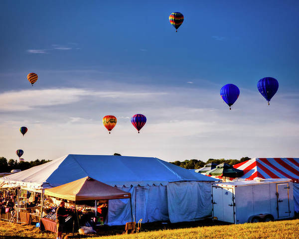 29th Annual Quick Chek New Jersey Festival Of Ballooning Poster featuring the photograph Up by David Hahn