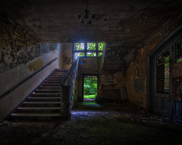 Abandoned Poster featuring the photograph Up Into The Light by Nathan Wright