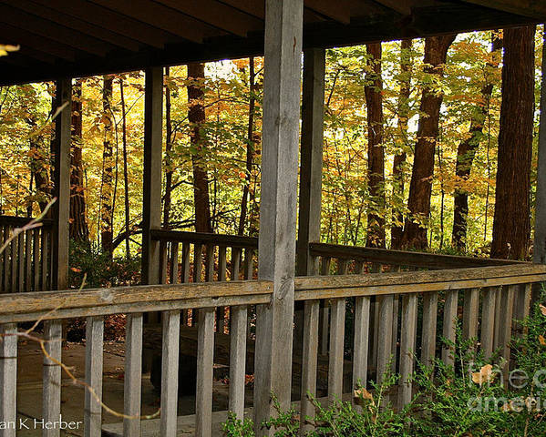 Outdoors Poster featuring the photograph Up North Porch by Susan Herber