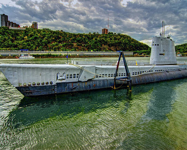 Pittsburgh Poster featuring the photograph Uss Requin by Mark Dottle