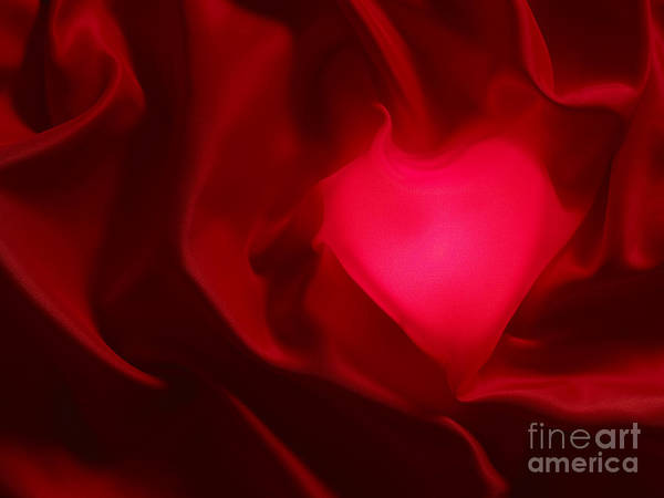 Valentine Poster featuring the photograph Valentine Heart by Tony Cordoza