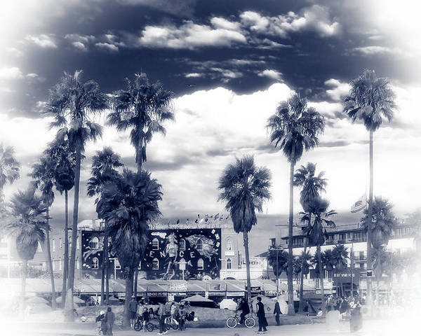 Venice Beach Haze Poster featuring the photograph Venice Beach Haze by John Rizzuto