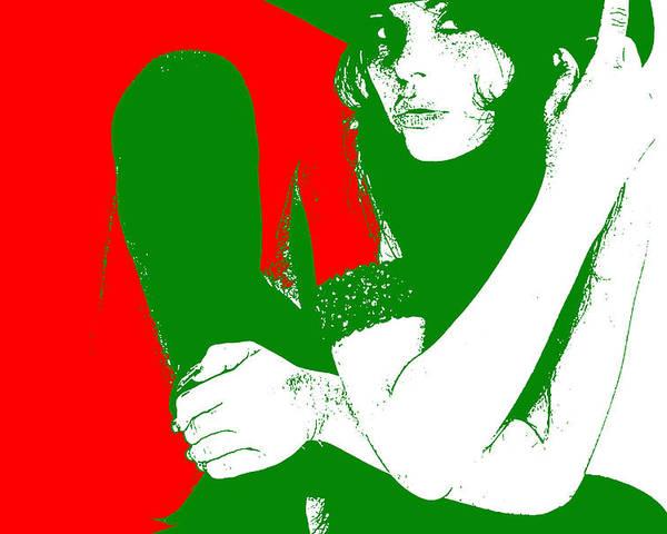 Poster featuring the digital art Vera by Naxart Studio
