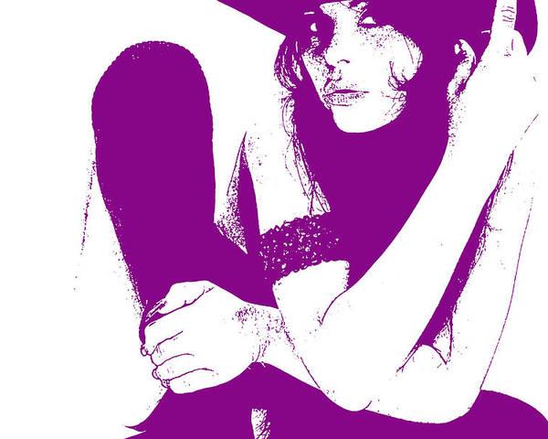 Poster featuring the digital art Vera Purple by Naxart Studio