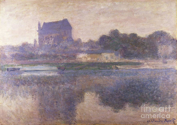 Vernon Church In Fog Poster featuring the painting Vernon Church In Fog by Claude Monet