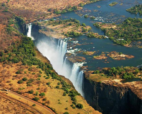 Horizontal Poster featuring the photograph Victoria Falls, Zambia by © Pascal Boegli