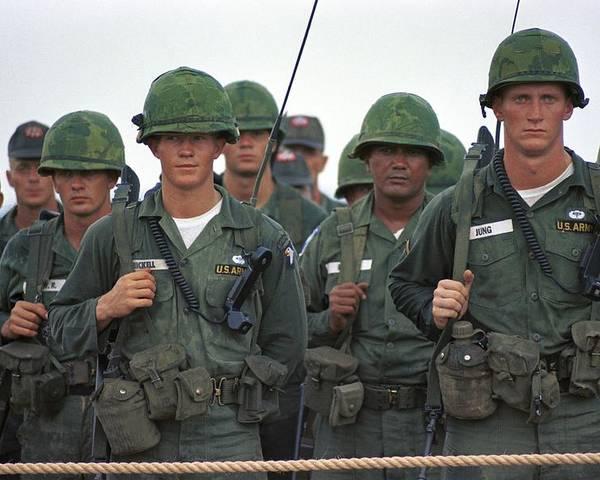 Vietnam Era American Soldiers  Solders Poster