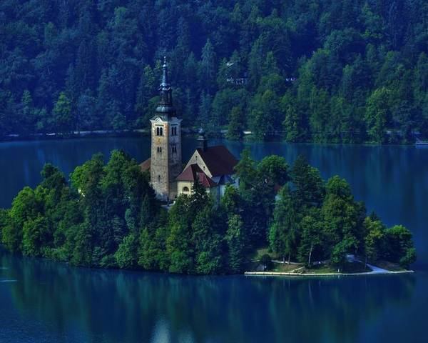 Lake Bled Poster featuring the photograph View From Castle by Don Wolf