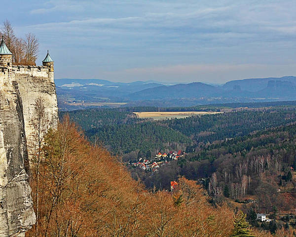 Fortresses Poster featuring the photograph View From Koenigstein Fortress Germany by Christine Till