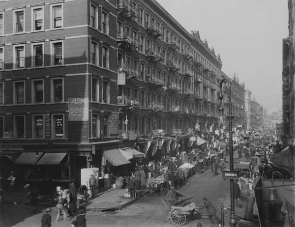 History Poster featuring the photograph View From Rivington Street On New York by Everett
