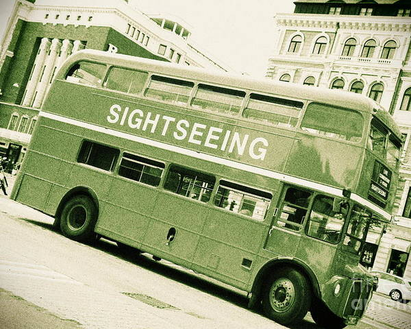 Bus Poster featuring the photograph Vintage Bus by Sophie Vigneault