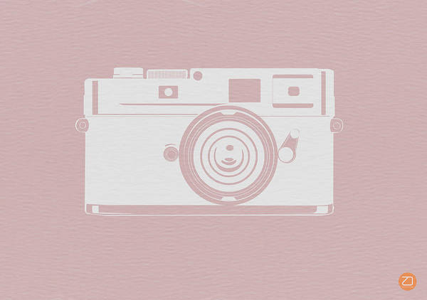 Poster featuring the digital art Vintage Camera Poster by Naxart Studio