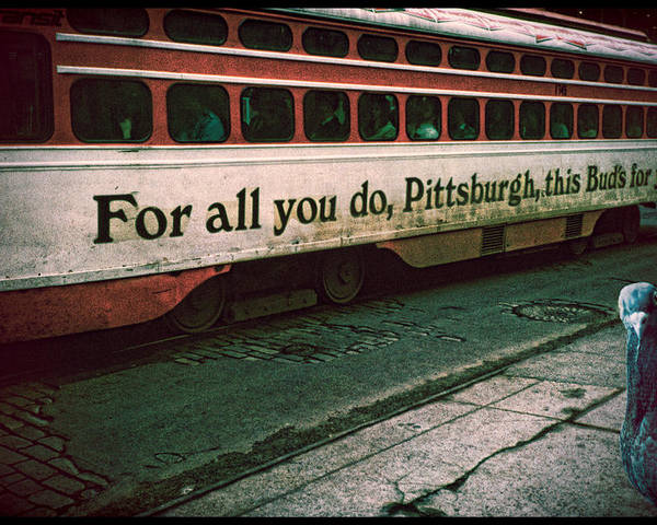 Pigeon Poster featuring the photograph Vintage Pittsburgh Trolly by Chris Lord