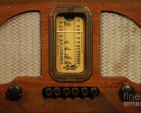 Old Radio Poster featuring the photograph Vintage Radio by Dennis Hedberg