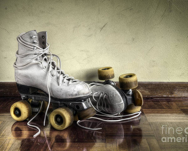 Active Poster featuring the photograph Vintage Roller Skates by Carlos Caetano