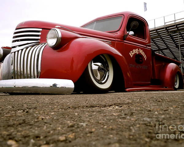 Vintage Poster featuring the photograph Vintage Style Hot Rod Truck by Customikes Fun Photography and Film Aka K Mikael Wallin