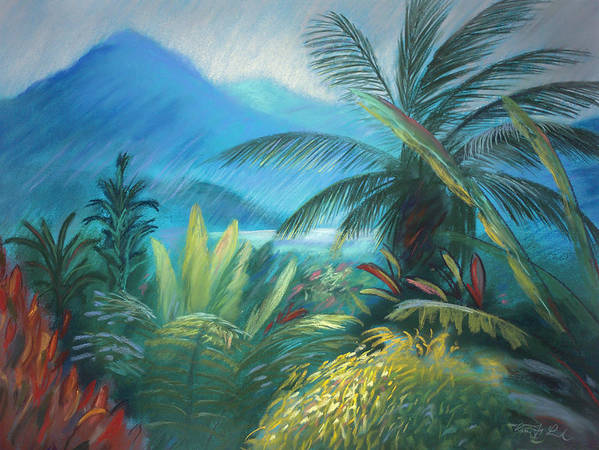 Hawaii Poster featuring the painting Visions Of Hawaii by Karin Leonard