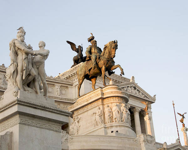 Vittorio Poster featuring the photograph Vittoriano. Monument To Victor Emmanuel II. Rome by Bernard Jaubert