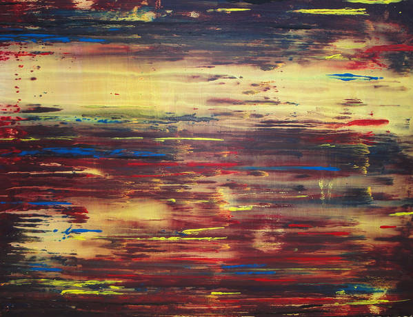 Abstract Poster featuring the painting Voice Of God by David Hendrickson