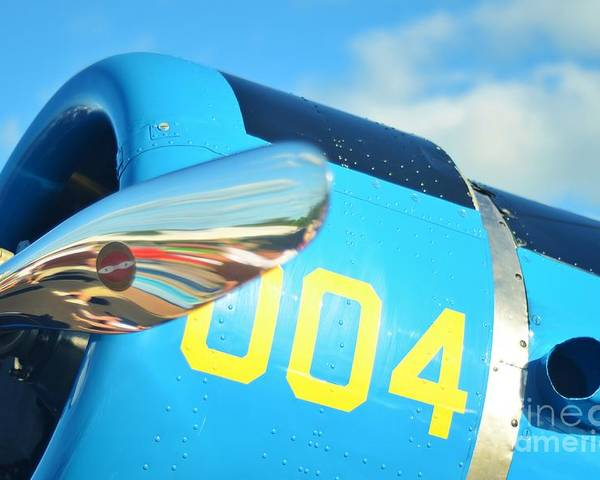 Vultee Bt-13 Valiant Poster featuring the photograph Vultee Bt-13 Valiant Nose by Lynda Dawson-Youngclaus