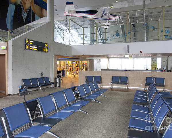 Air Travel Poster featuring the photograph Waiting Area At An Airport Gate by Jaak Nilson