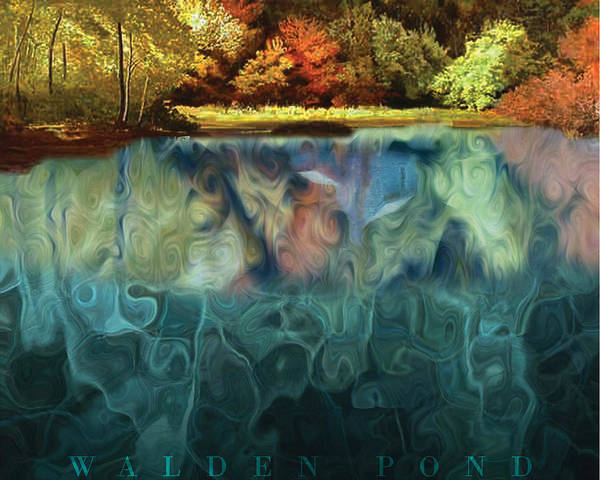 Walden Poster featuring the digital art Walden Pond II by David Glotfelty