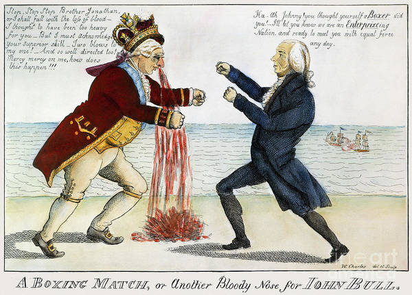 1813 Poster featuring the photograph War Of 1812: Cartoon, 1813 by Granger