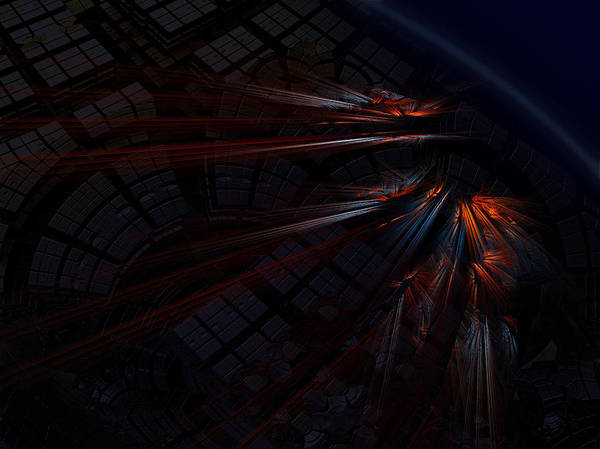 Fractal Poster featuring the digital art Warp 8 by Nafets Nuarb