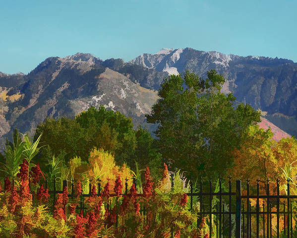 Wasatch Mountains Poster featuring the painting Wasatch Mountains In Autumn Painting by Tracie Kaska