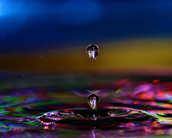 Water Poster featuring the photograph Waterdrop by Ahmed Moustafa