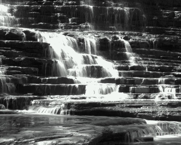 Cascading Poster featuring the photograph Waterfall by John Marois