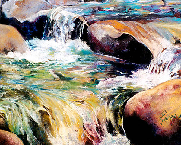Waterfalls Poster featuring the painting Waterfall Maui by Rae Andrews