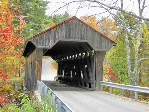 Nh Poster featuring the photograph Waterloo Covered Bridge by Wayne Toutaint