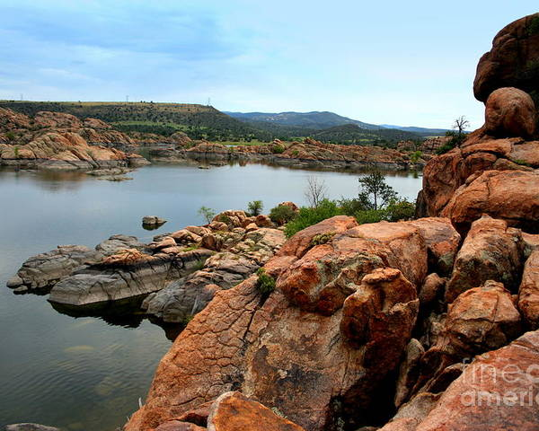 Prescott Poster featuring the photograph Watson Lake by Julie Lueders