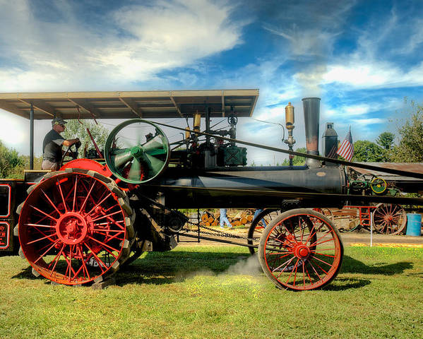 Arcadia Volunteer Fire Company Poster featuring the photograph We Are Driving It Now by Mark Dodd