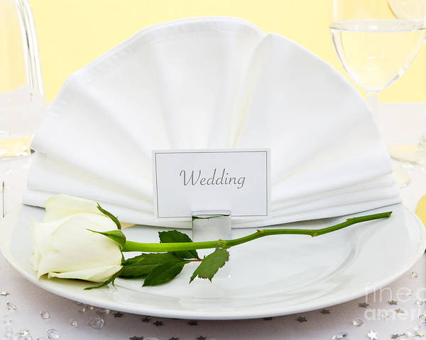 Wedding Poster featuring the photograph Wedding Place Setting by Richard Thomas