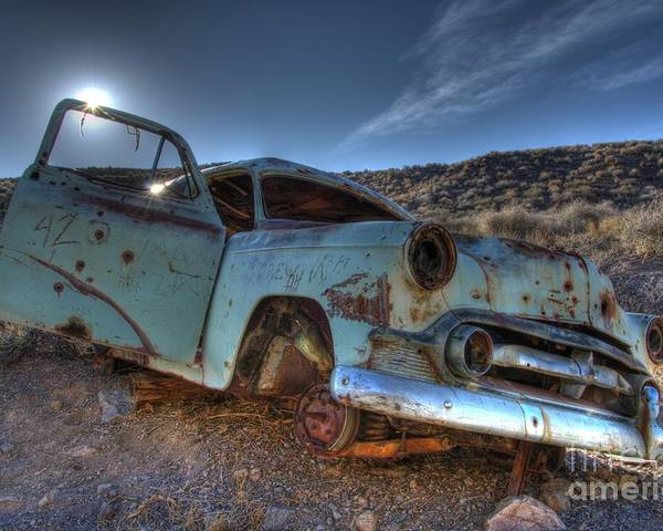 Old Cars Poster featuring the photograph Welcome To Death Valley by Bob Christopher