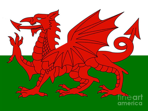Wales Poster featuring the photograph Welsh National Flag by Steev Stamford