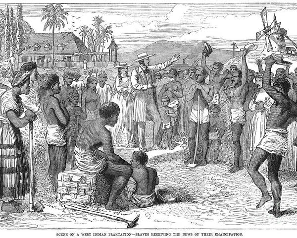 1833 Poster featuring the photograph West Indies: Emancipation by Granger