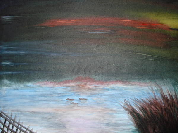 Landscape Poster featuring the painting Where The Life Meets The Horizon by Prasenjit Dhar