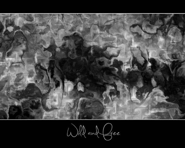 Fractals Poster featuring the digital art Wild And Free by Kim Redd