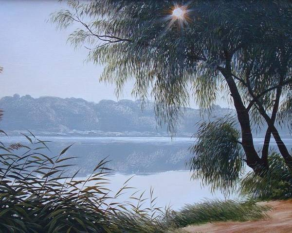 Oil On Canvas Poster featuring the painting Willow by Oleg Bylgakov